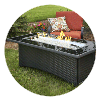Rectangle Fire Pit Tables
