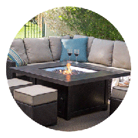 Square Fire Pit Tables