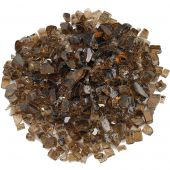 American Fireglass 10-Pound Premium Fire Glass, 1/2 Inch, Copper Reflective
