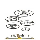 Spotix HPC Match Lit Fire Pit Burner Kits, Round, Cold Rolled Steel