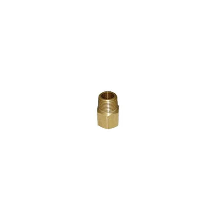 HPC Brass Pipe Adaptor Fitting, 3/8-Inch FIP to 3/8-Inch MIP
