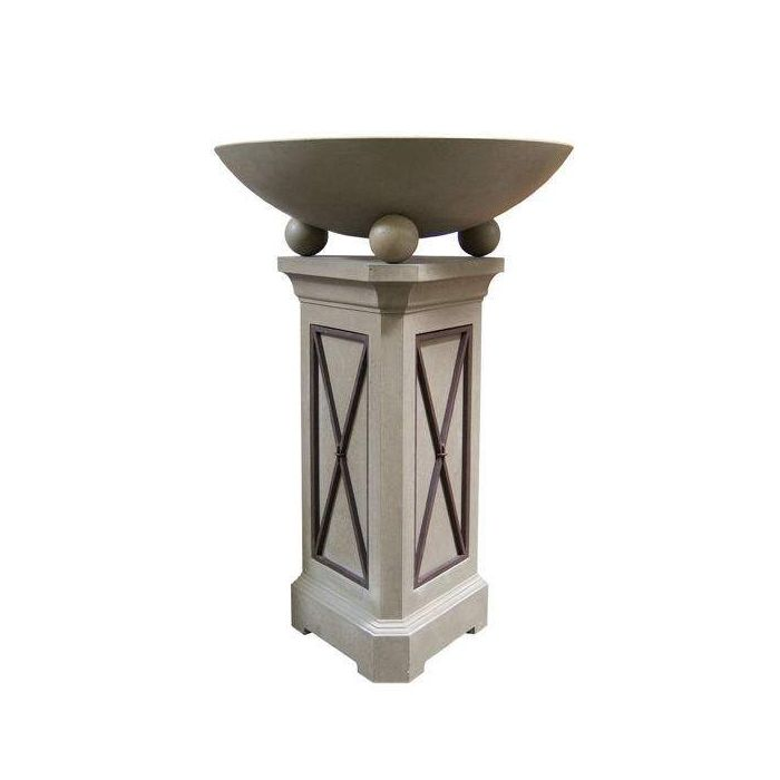 American Fyre Designs Versailles 40-Inch Fire Bowl with 54-Inch Pedestal