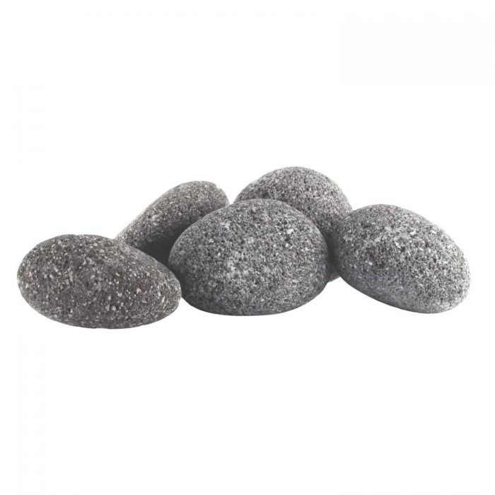 Hearth Products Controls Grey Rolled Lava Stone, 1/2 Cubic Foot