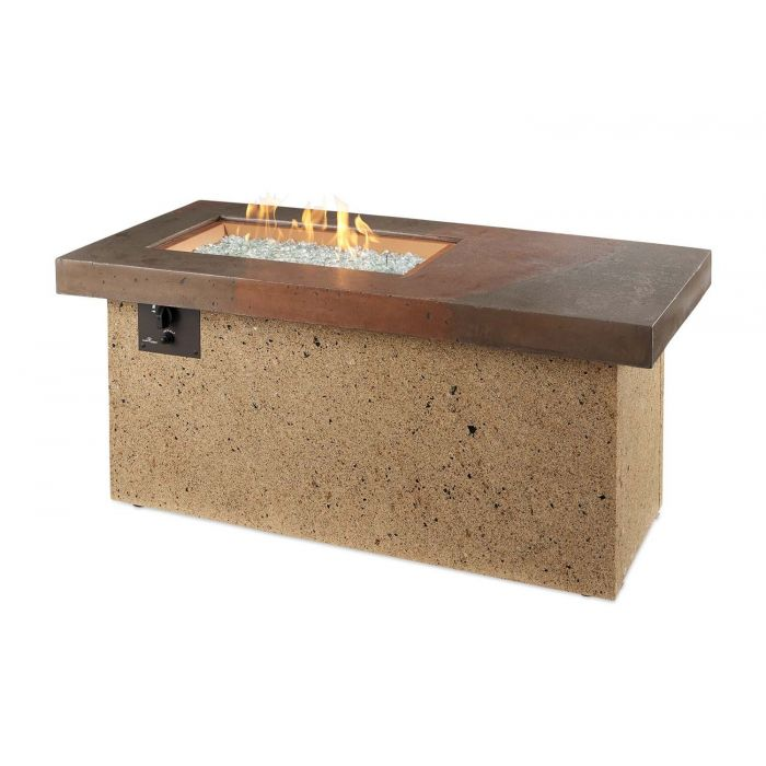The Outdoor GreatRoom Company ART-1224-BRN-C Artisan Fire Table, 25.5x54-Inches
