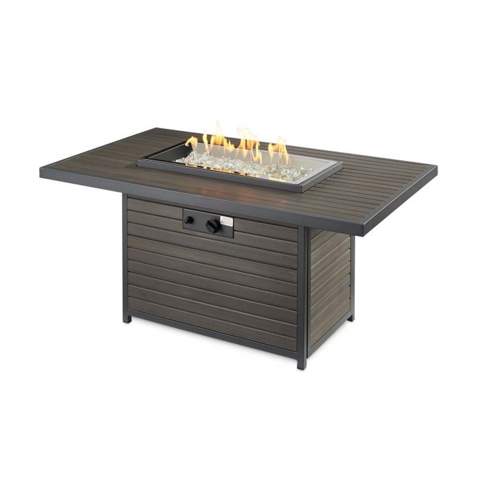 The Outdoor GreatRoom Company BRK-1224-K Brooks Gas Fire Pit Table, 30.75x50-Inches