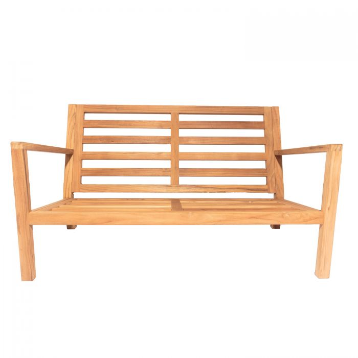 Royal Teak Collection COA2FO Coastal Teak Love-Seat, Frame Only (Cushions Not Included)