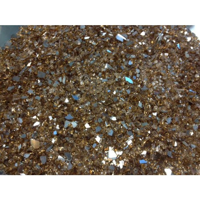 The Outdoor GreatRoom Company GFC-CRUSH-C 5-Pound Crushed Fire Glass, Copper Reflective Glass