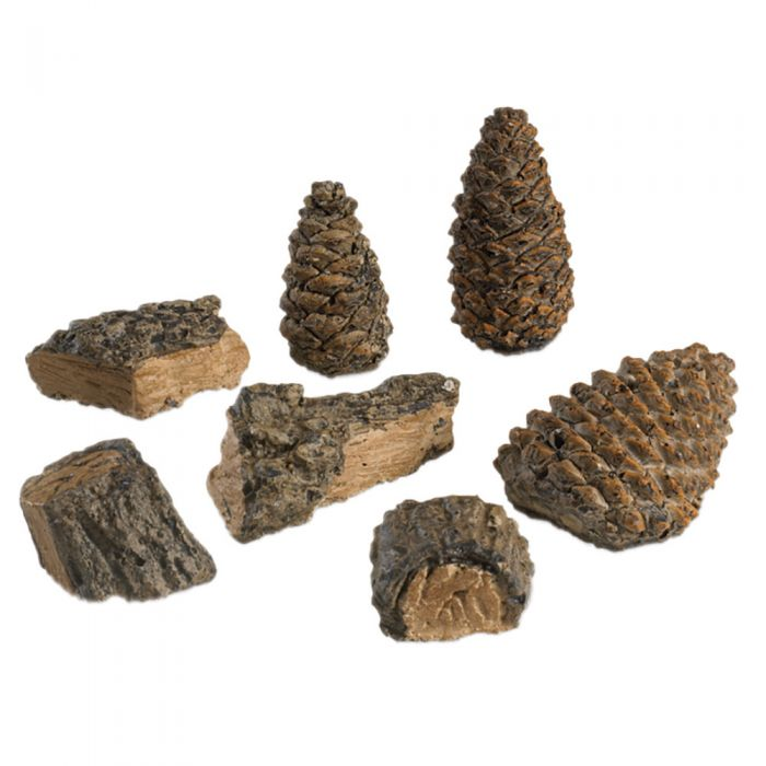 Real Fyre DP-2 Decor Pack with Wood Chips and Pine Cones