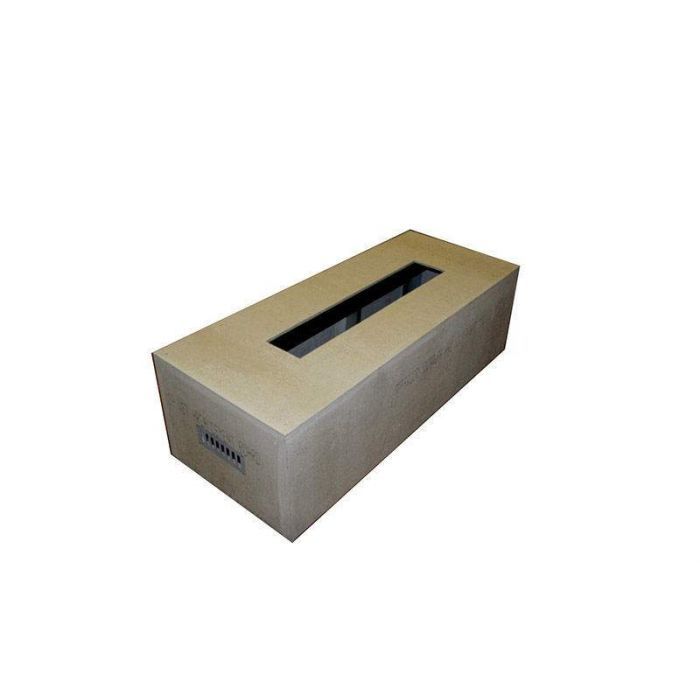 Hearth Products Controls Rectangular 60 x 24 Inch Unfinished Fire Pit Enclosures for 36x14 Inch Burner Pans