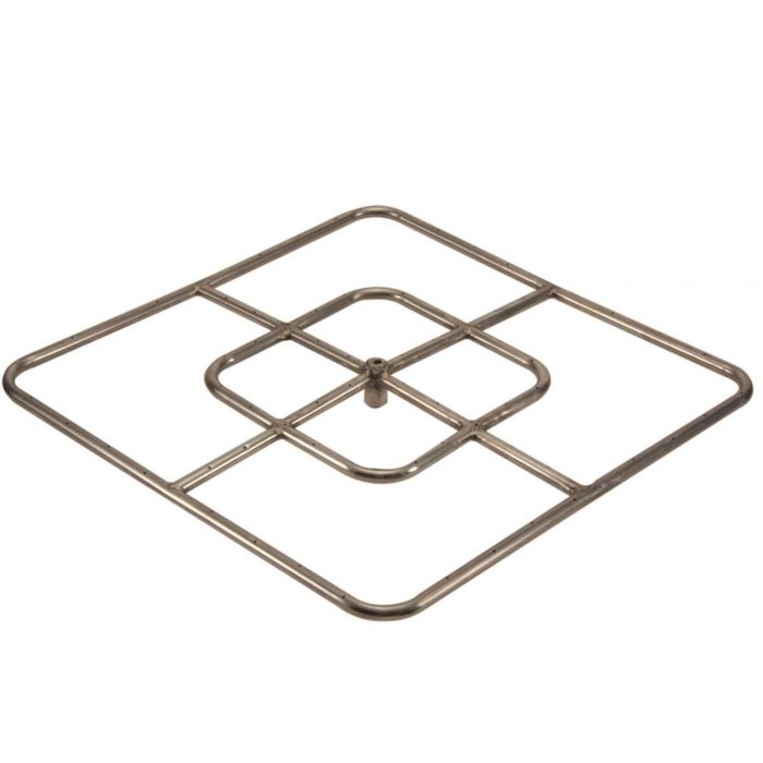 Hearth Products Controls Square Stainless Steel Fire Pit Burner, 24x24-Inch, Natural Gas