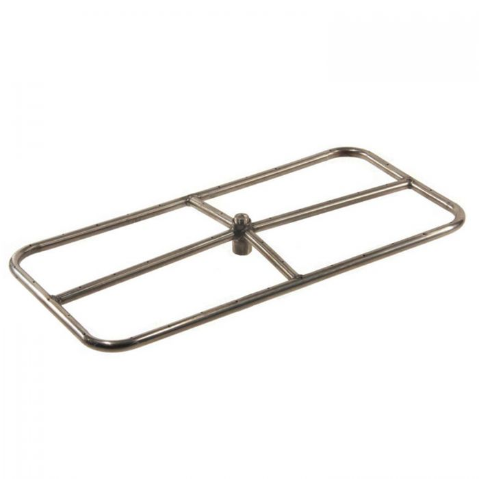 Hearth Products Controls Rectangle Stainless Steel Fire Pit Burner, 36x18-Inch, Natural Gas