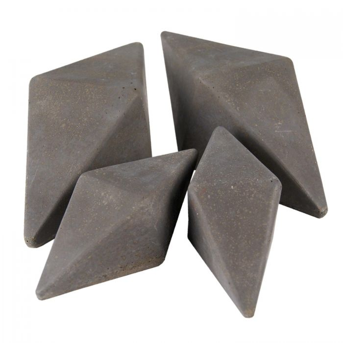 Real Fyre Geometric Fireplace and Fire Pit Stones, Geo Diamonds