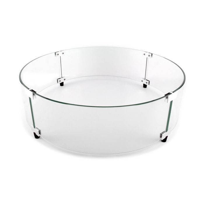 The Outdoor GreatRoom Company GLASS-GUARD-20-R Glass Guard for CF-20 Burner, Round, 23-Inch Diameter