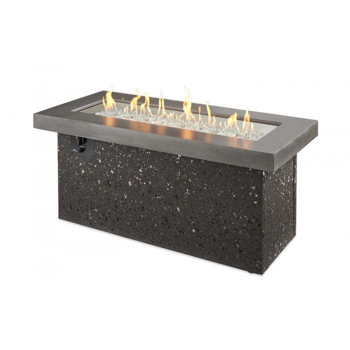 The Outdoor GreatRoom Company KL-SC Key Largo Fire Pit, Supercast, 19.625x48-Inches