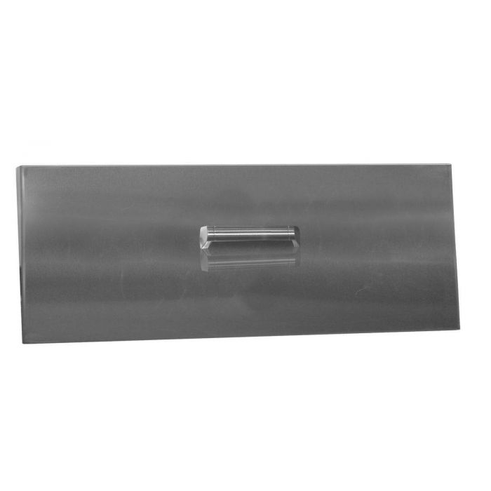 Firegear LID-36L Stainless Steel Burner Cover with Brushed Finish, Linear, 36-inch