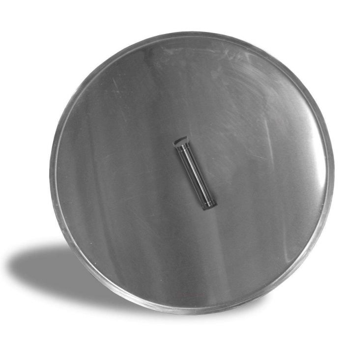 Firegear LID-25R Stainless Steel Burner Cover with Brushed Finish, Round, 25-inch