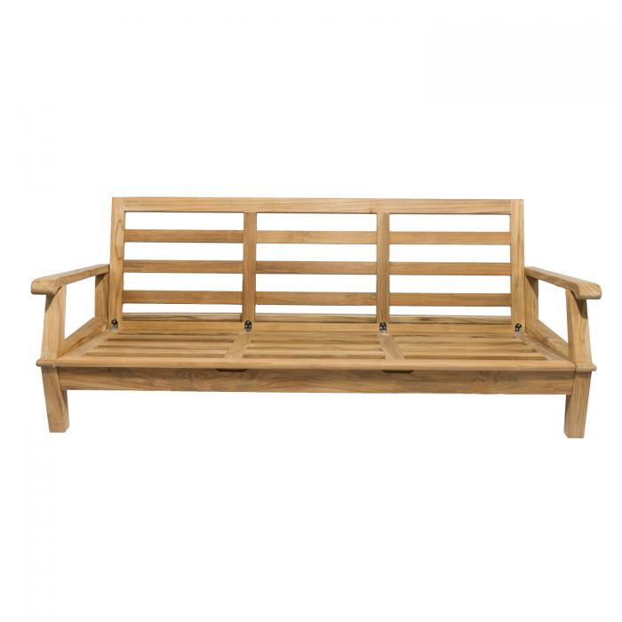 Royal Teak Collection MIA3FO Miami Teak Sofa, Frame Only (Cushions Not Included)