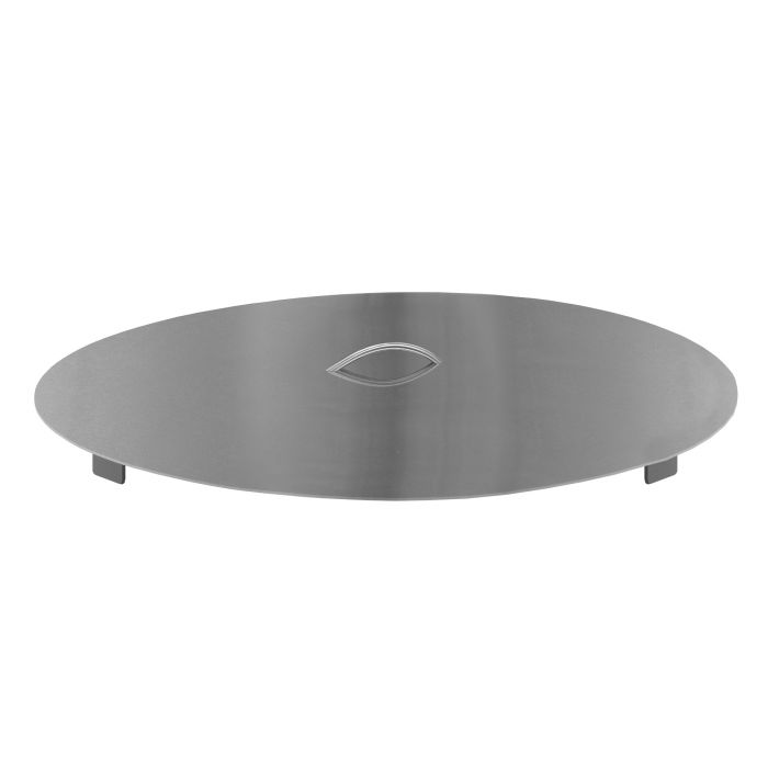 Firegear LID-33R Stainless Steel Burner Cover with Brushed Finish, Round, 33-inch