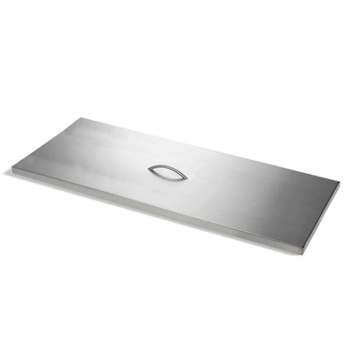 Hearth Products Controls Rectangle Stainless Steel Fire Pit Cover, 28x16 Inch