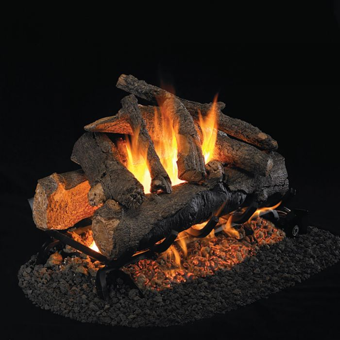 Real Fyre CHAO Charred American Oak Vented Gas Logs, See-Thru