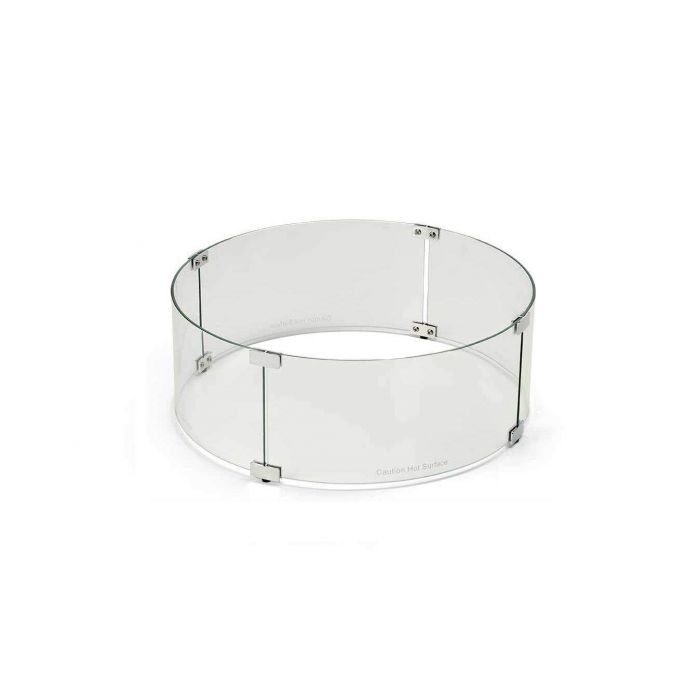 Hearth Products Controls WG48-RD Fire Pit Glass Wind Guard, Round, 48-Inch
