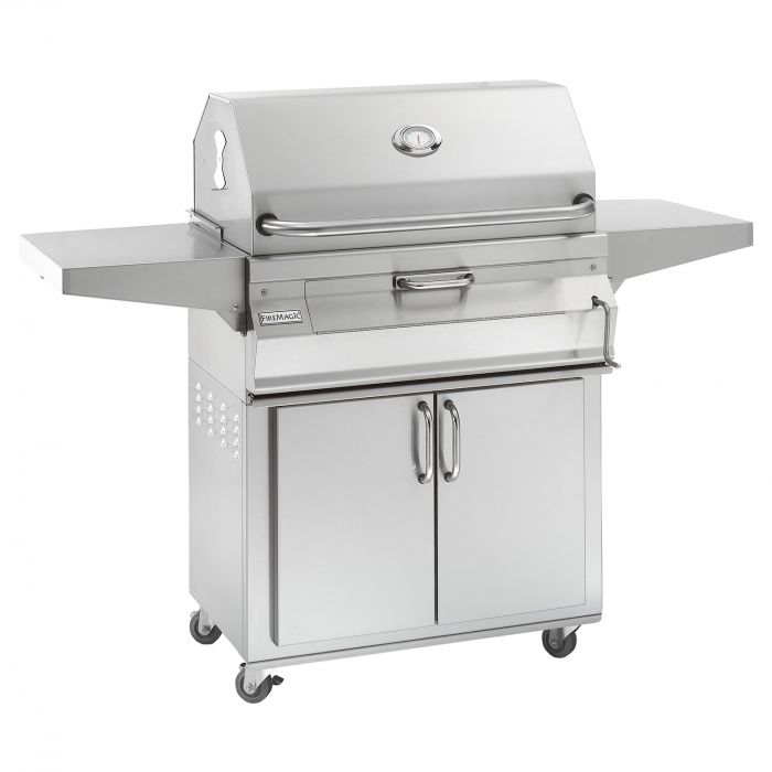 Fire Magic Legacy Charcoal Grill On 30-Inch Cart