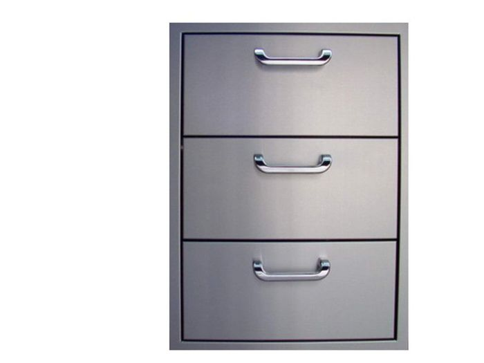 The Outdoor GreatRoom Company 3DRW Triple Drawer Storage, 17.25x23.875-Inch