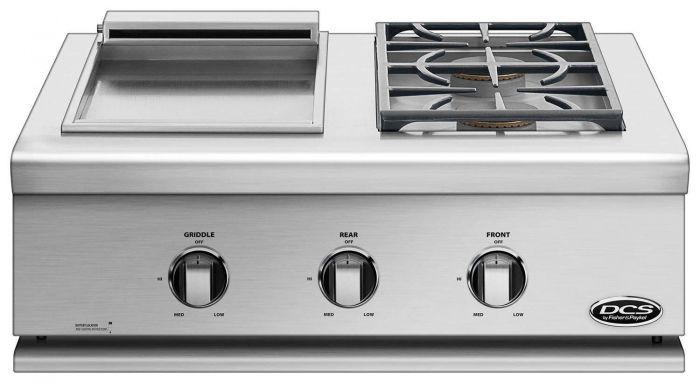 DCS Liberty 30-Inch Built-In Dual Side Burner and Griddle