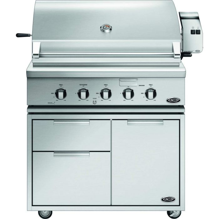DCS Traditional 36-Inch Gas Grill On Cart with Rotisserie