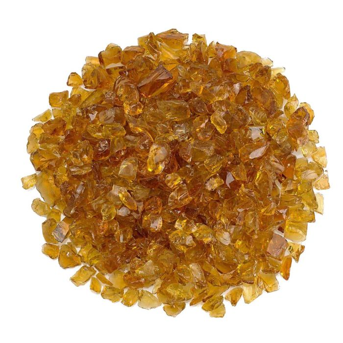 American Fireglass 10-Pound Recycled Fire Glass, 1/2 Inch, Coffee
