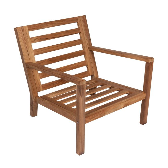 Royal Teak Collection COACHFO Coastal Teak Chair, Frame Only (Cushions Not Included
