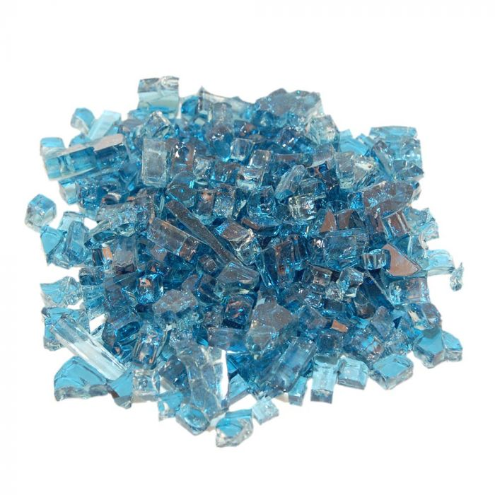 Real Fyre GL-10-N Caribbean Blue Fire Glass, 10 Pounds