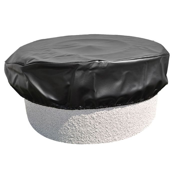 Hearth Products Controls Round Black Vinyl Fire Pit Cover, 64 Inch