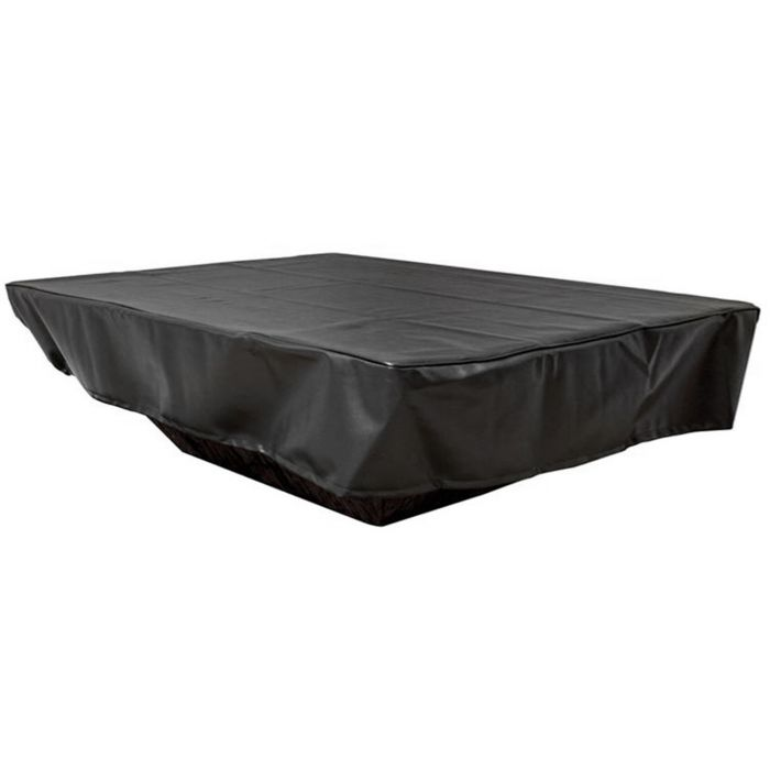 Hearth Products Controls Rectangular Black Vinyl Fire Pit Cover, 130x30 Inch