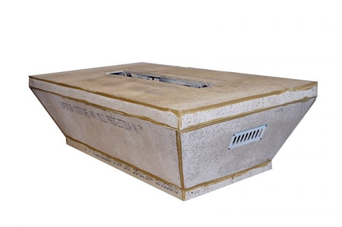 Hearth Products Controls Rectangular 60 x 36 Inch Tapered Unfinished Fire Pit Enclosures for 36 Inch Troughs