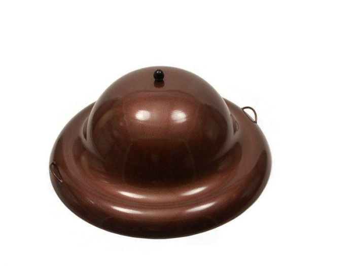 Hearth Products Controls Round Aluminum Fire Pit Cover, 44 Inch, Copper Vein