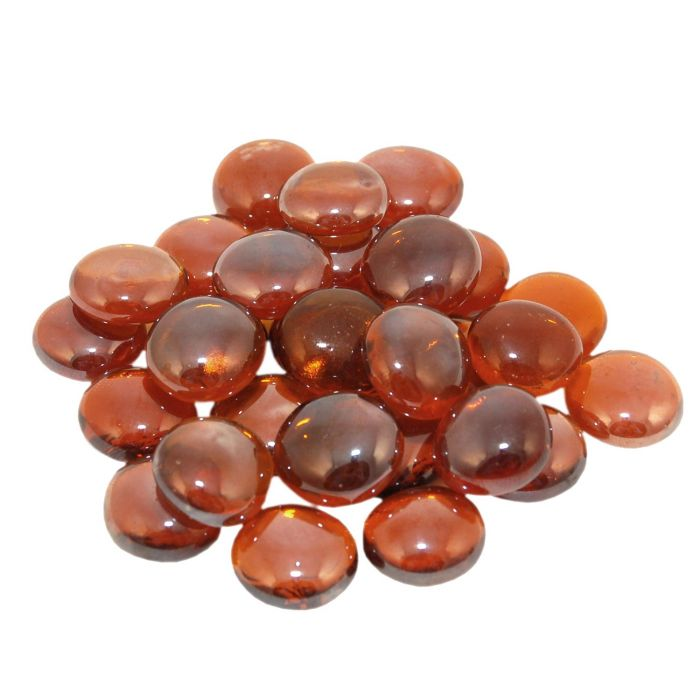 Real Fyre GLG-10-A Deep Amber Fyre Gems, 10 Pounds