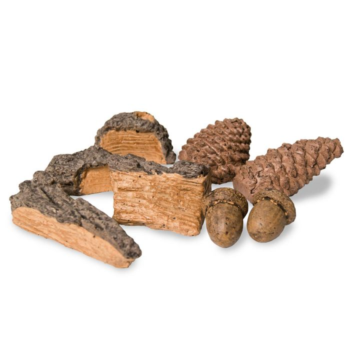 Real Fyre HDK-1 Decor Pack with Wood Chips, Pine Cones and Acorns