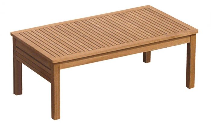 Royal Teak Collection MIATB Miami Rectangular Teak Table, 43x24x17-Inch