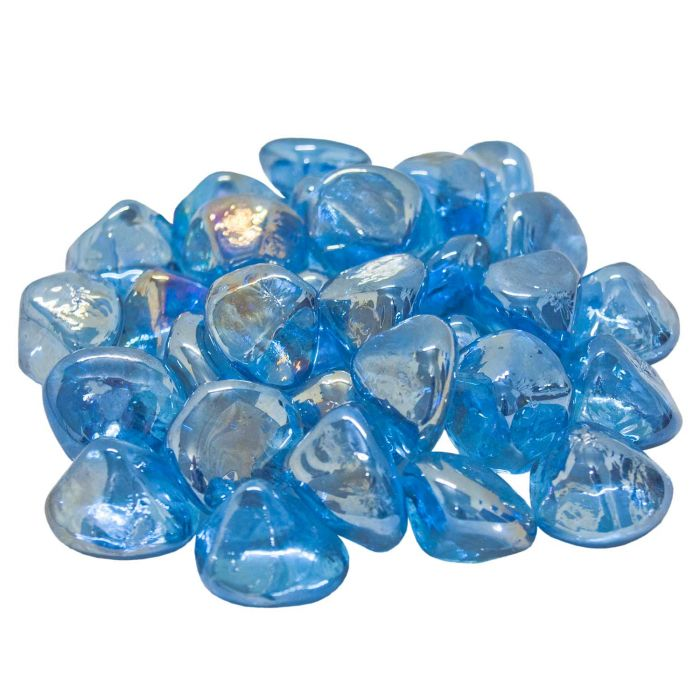 Real Fyre GLD-10-SB Steel Blue Diamond Nuggets, 10 Pounds
