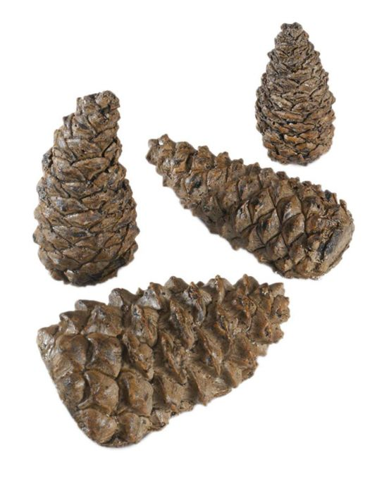 Real Fyre PCW-4 Wilderness Pine Cones, Set of Four