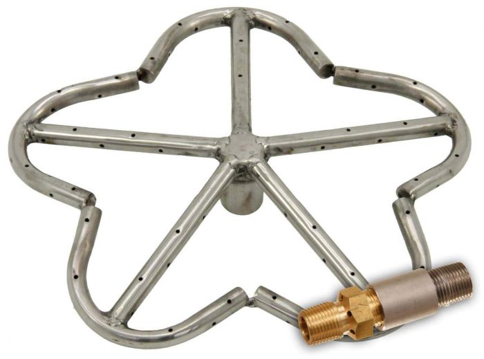 Hearth Products Controls Penta Stainless Steel Fire Pit Burner, 12-Inch, Propane