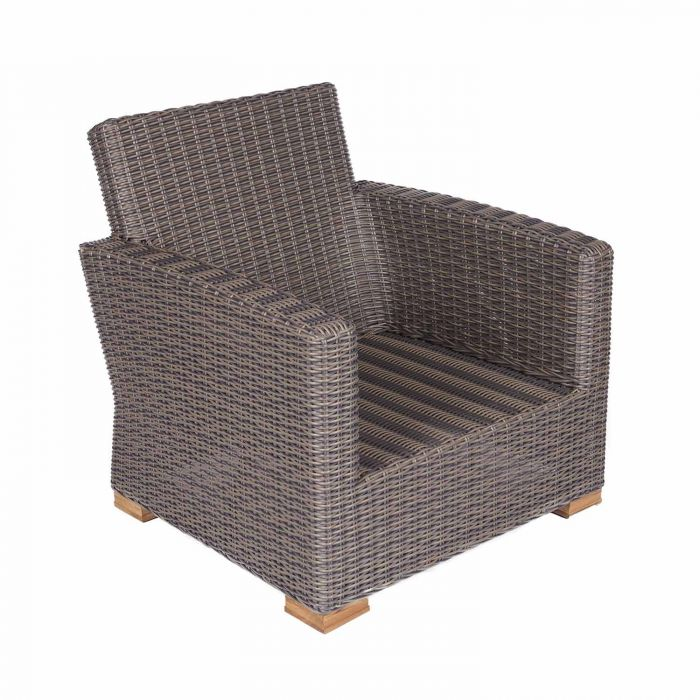 Royal Teak Collection SBCCFO Sanibel Deep Seating Wicker Club Chair, Frame Only