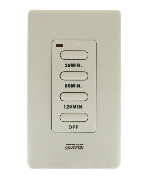 Skytech TM-3 Wired Wall Mounted Timer Fireplace Control - Front