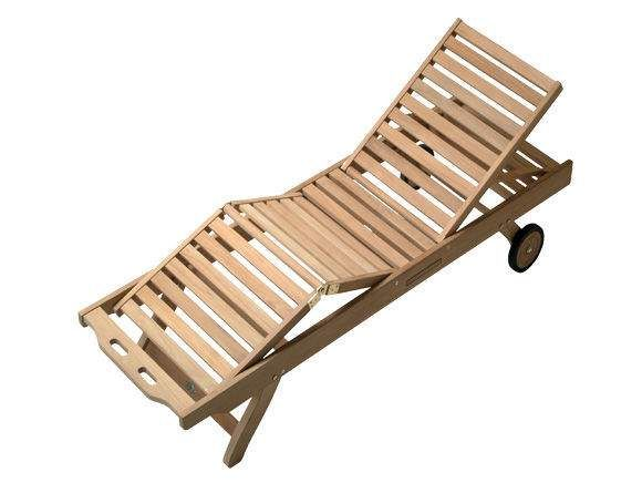 Royal Teak Collection SNBL Teak Lounging Sun Bed Chair