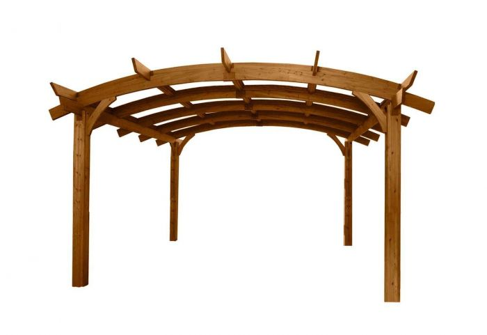 The Outdoor GreatRoom Company SONOMA1216-R Sonoma Pergola, 12x16-Feet