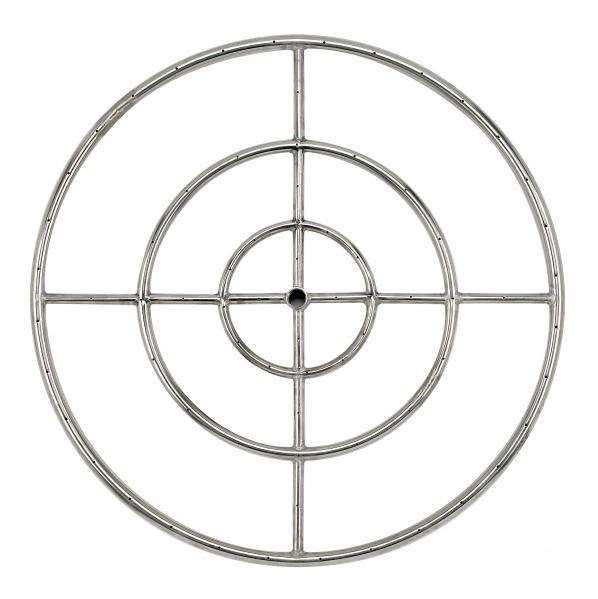 American Fireglass Round Stainless Steel Fire Pit Burner, 30-Inch, Propane