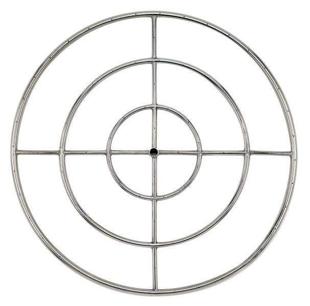American Fireglass Round Stainless Steel Fire Pit Burner, 36-Inch, Propane