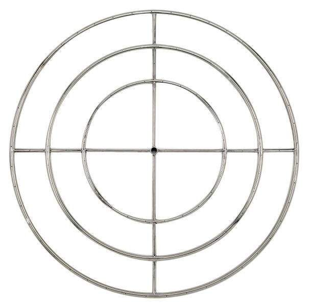 American Fireglass Round Stainless Steel Fire Pit Burner, 48-Inch, Propane
