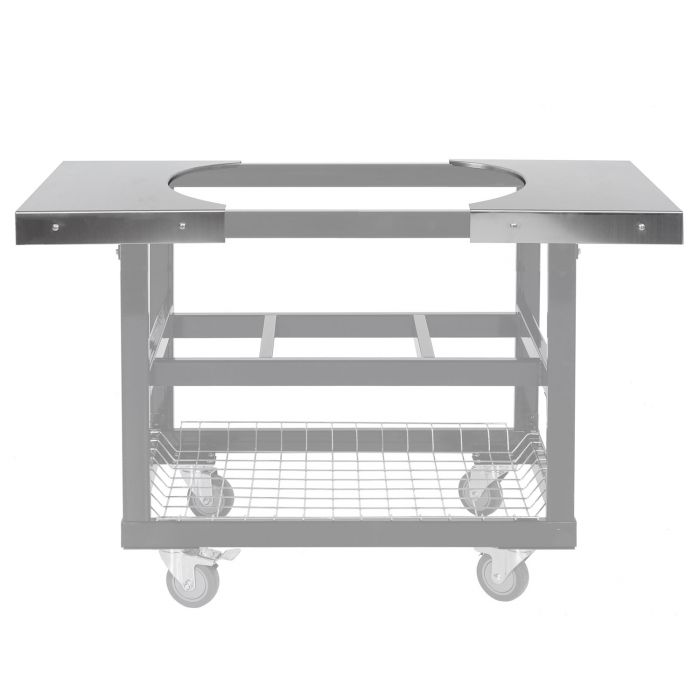 (2) Stainless Steel Side Tables for Oval JR 200 Cart Ghosted